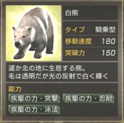 白熊の能力値